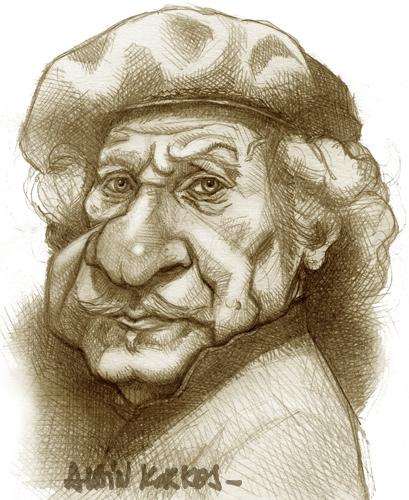 Rembrandt - étude préparatoire